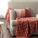 Check Fleece Tv Blanket 120x170 Cm Dusty Rose