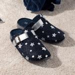 Stars Women's Home Slippers 36 Navy Blue