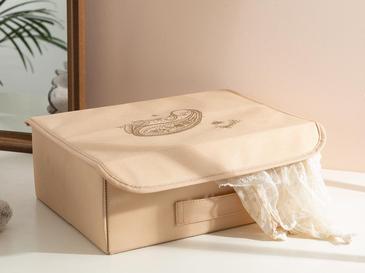 Paisley Кутия за Съхранение 30x23x11 См Бежово