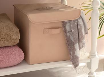 Paisley Кутия за Съхранение 30x30x30 См Бежово
