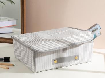 Thin Stripe Кутия за Съхранение Полипропилен 30x23x11 См Сиво