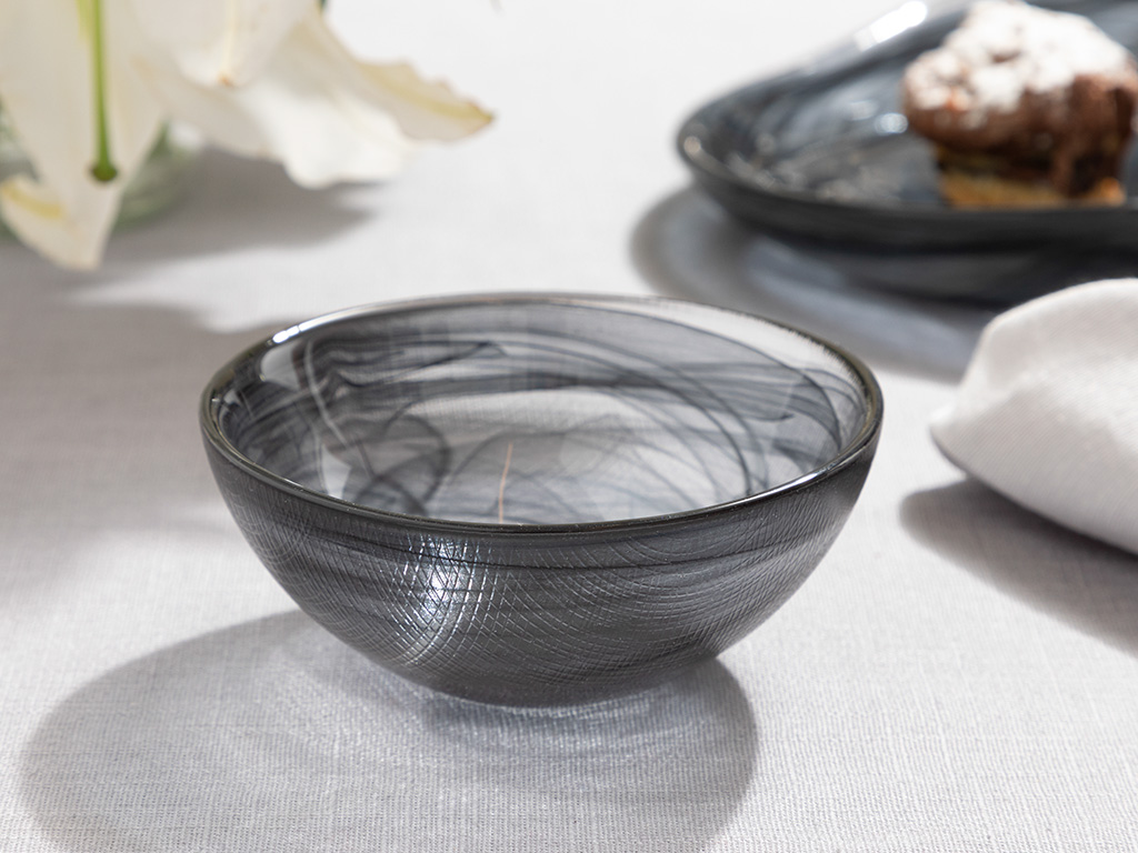 Blacksea Glass Bowl 9 Cm Black