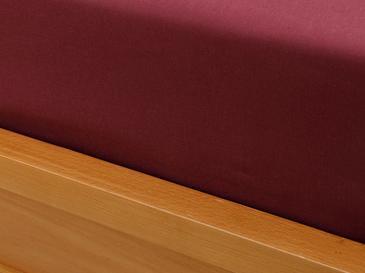 Plain Памучен Чаршаф Единичен Размер 160x240 См Вишна