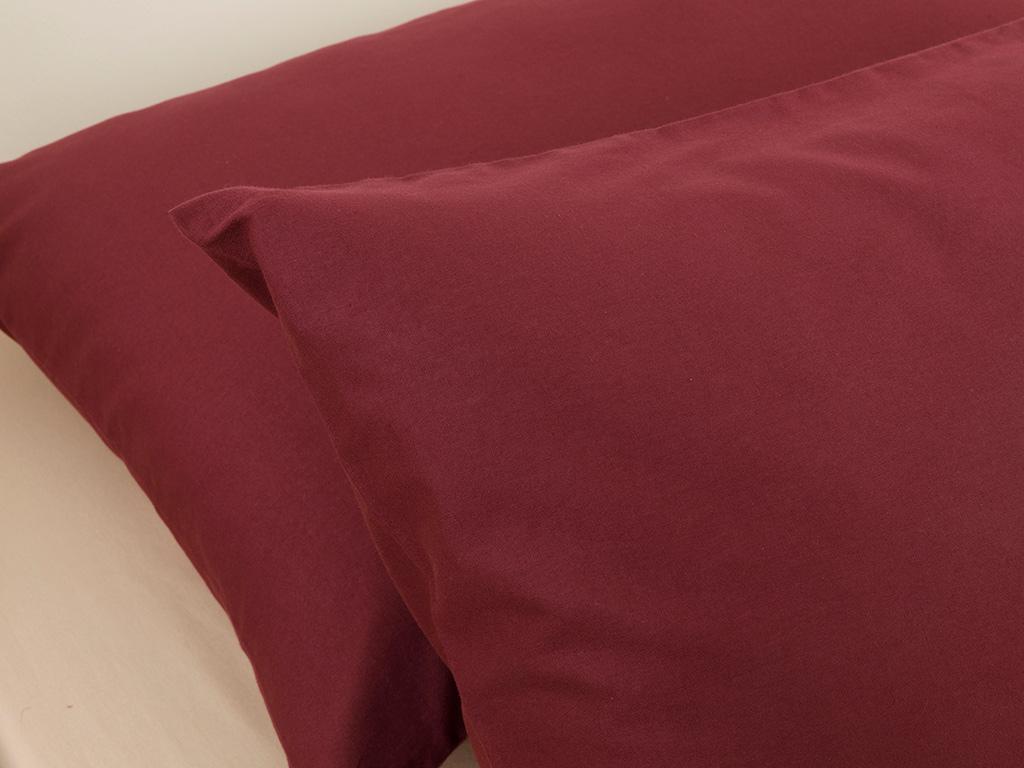 Plain Калъфка за Възглавница 50x70 См Вишна