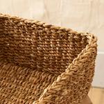 Natural Story Straw Hand Work Basket Kahve