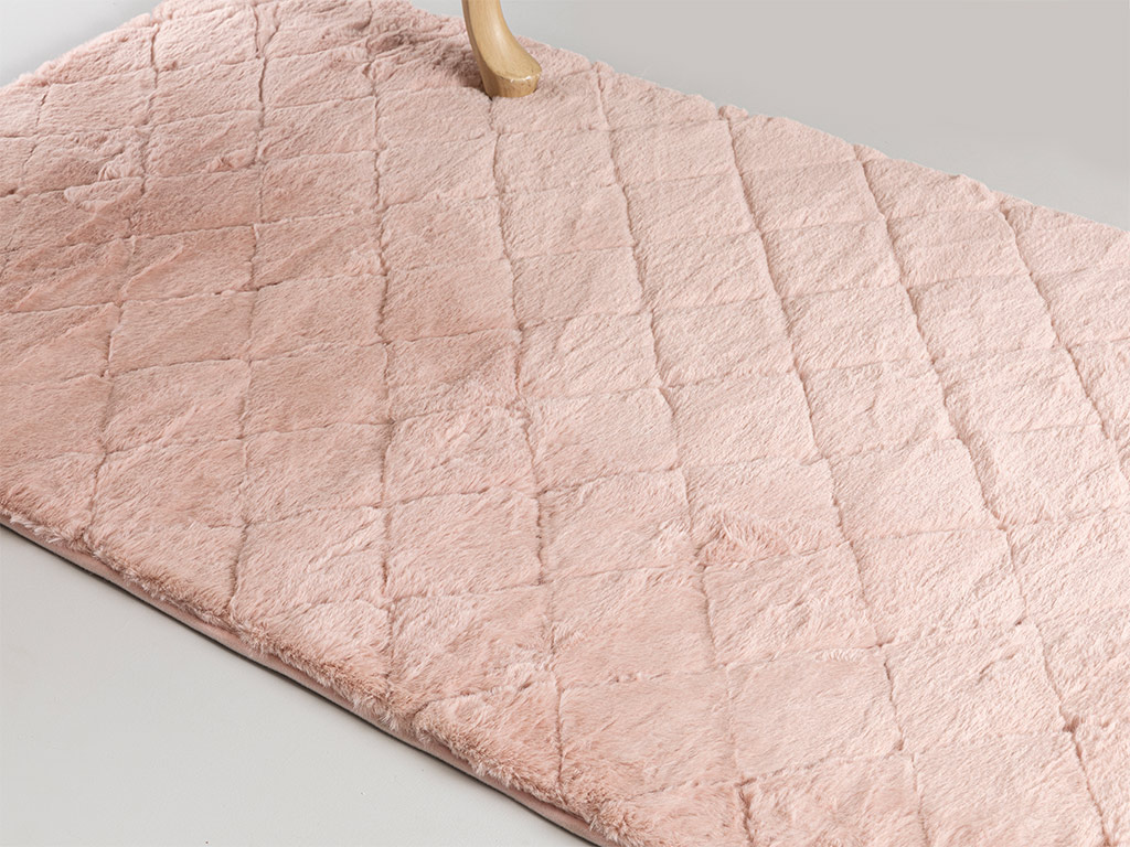 Rabbit Polyestere Anti Slip Carpet 80x140 Cm Pudra
