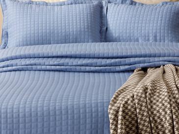 Покривка За Легло К За Двама Жакардов 250x260 Cm Парламент Синьо