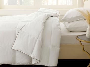 Super Soft Юрган За Двама Гъши Пух 195x215cm Бяло