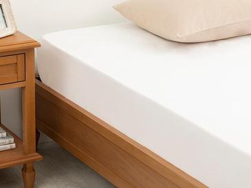 Plain Памучен Чаршаф Единичен Размер 160x240 См Бяло