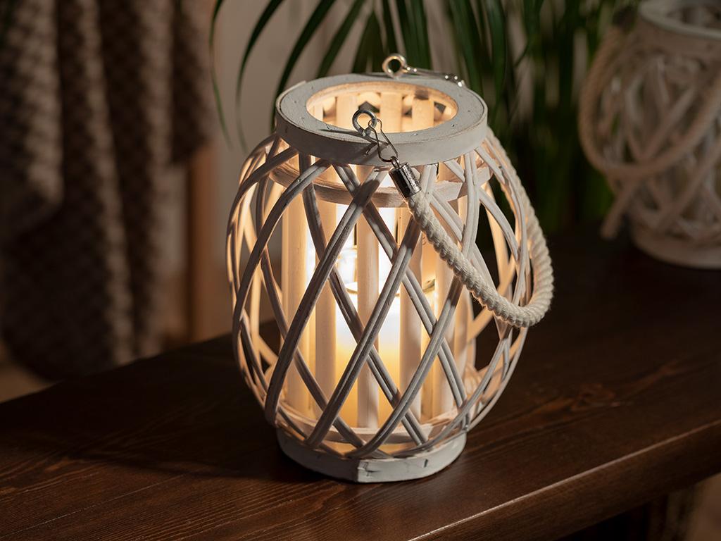 Shiny Фенер Бамбук 17x18 См Бяло
