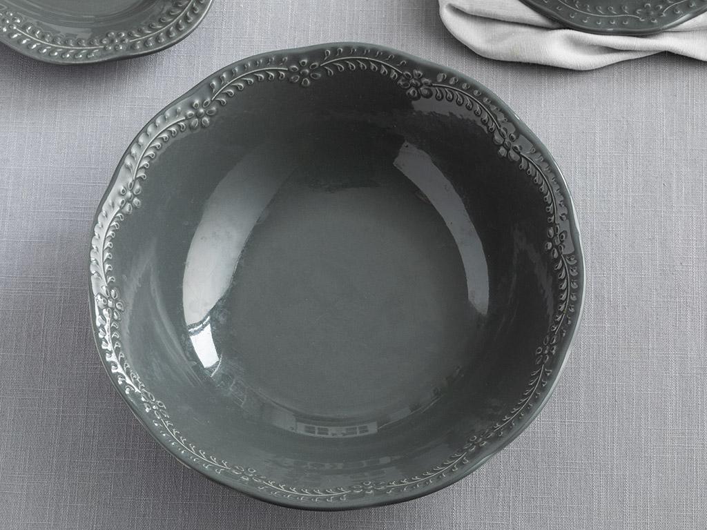 Porcelain Bowl 20 Cm. Antrasit