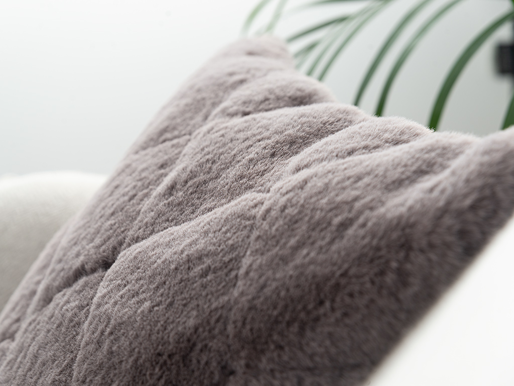 Rabbit Plush Cushion Cover 45x45 Cm Damson
