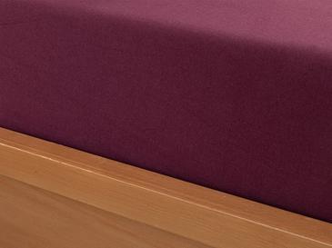 Plain Комплект Чаршафи с Ластик Единичен Размер 100x200 См Вишна