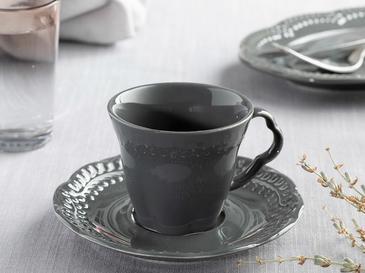 Комплект Чаши За Каф 2 Броя Порцелан 70x80 Cm Антрацит