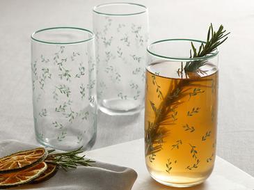 Rosalinda 4 Чаша за Безалкохолно 365 Мл Зелено