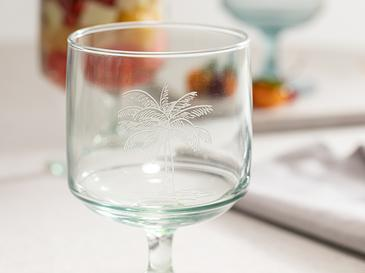 Palm Чаша Стъкло 3 Бр. 300 Мл Зелено