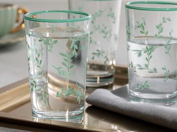 Водна Чаша 6 Броя Заедно С Кафето Стъкло 10,8x8,9x24,8 Cm Водно Зелено