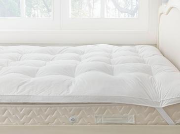 Luxury Протектор за Матрак Гъши Пух Единичен Размер 100x120 См Бяло