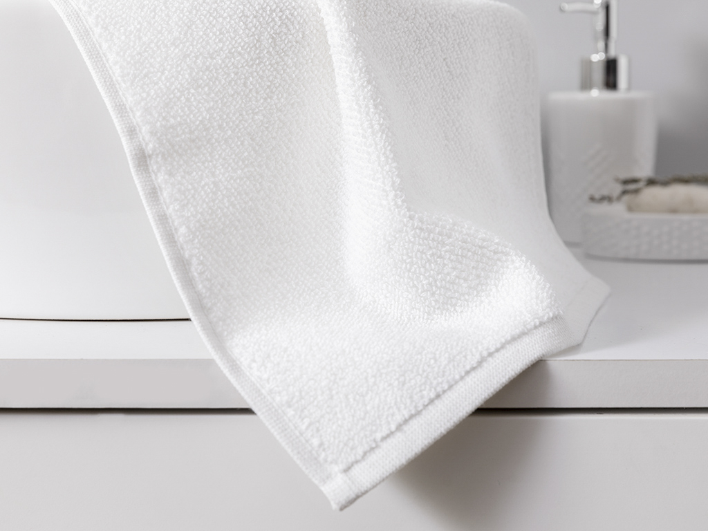 Rice Stitch Hand Towel 30x30 Cm White
