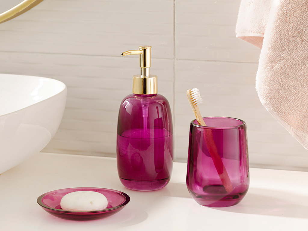 Shine Bright Glass 3 Set Bathroom Set