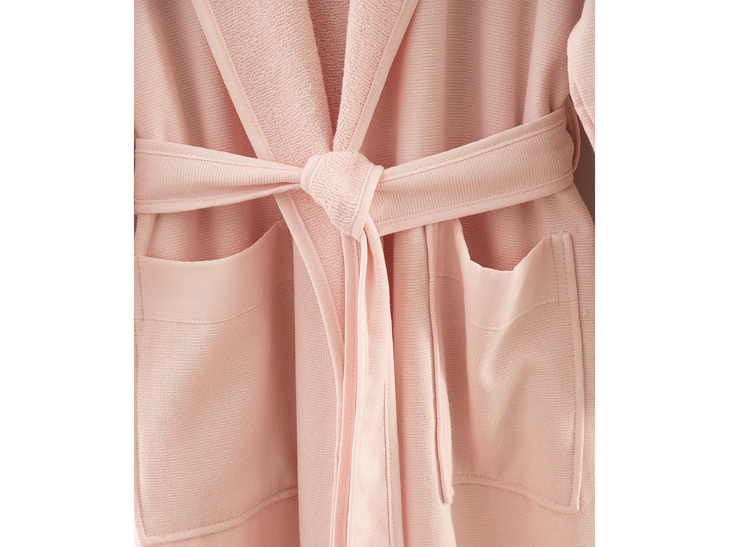 Vitality Poplin Women's Bathrobe L-XL Powder Pink