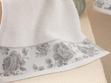Rose Belle Хавлия за Ръце с Бордюр 30x40 См Бяло