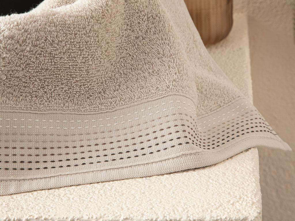 Stripes Striped Hand Towel 30x34 Cm Açık Bej