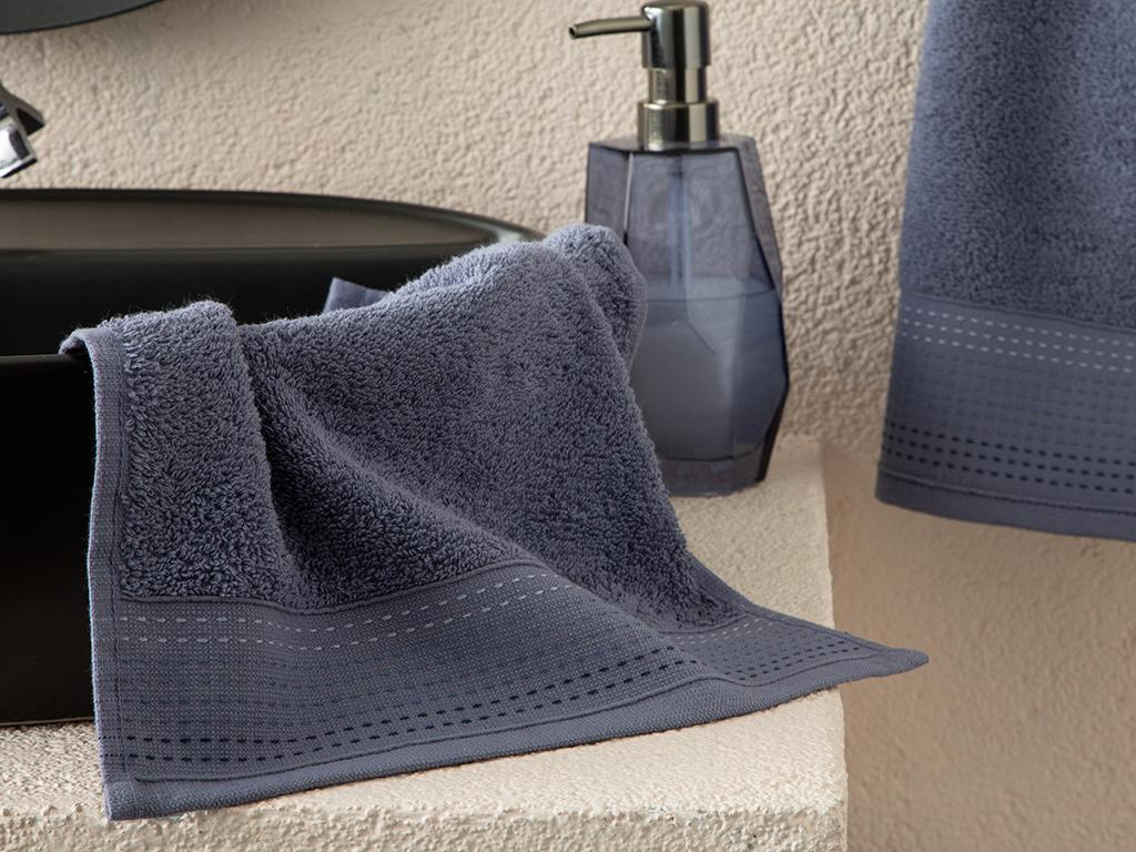 Stripes Striped Hand Towel 30x34 Cm İndigo