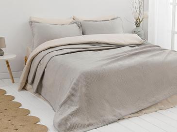 Soft Покривка За Легло К За Двама Кадифе 24,5x7,0x19,5 Cm Сиво