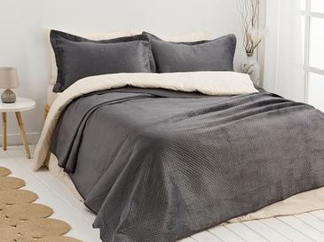 Soft Покривка За Легло К За Двама Кадифе 24,5x7,0x19,5 Cm Антрацит