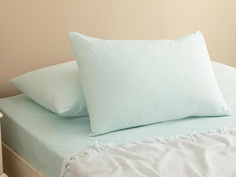 Plain Cotton Pillowcase 2 Piece 50x70 Cm Light Celadon