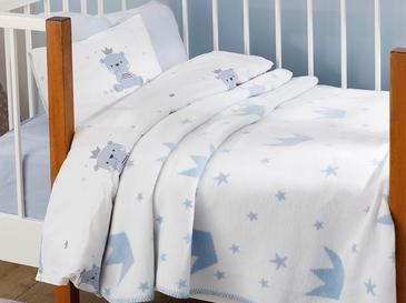 Mini Crown Бебешко Одеяло 100x120 См Синьо
