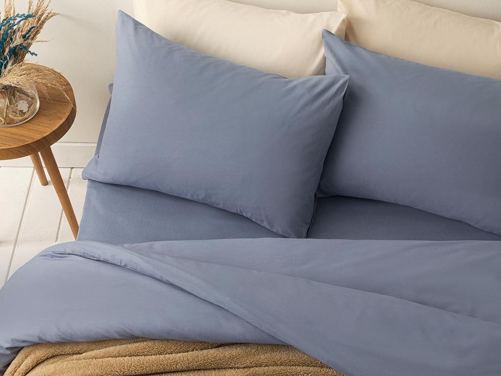Pure Cotton Duvet Cover Full Set Single Size 160x220 Cm Blue