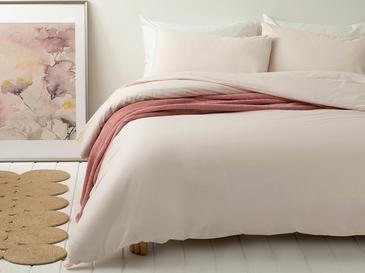 Pure Комплект Спално Бельо Единичен Размер 160x220 См Пудра