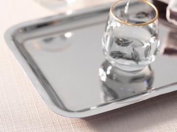Shiny Поднос Метал 22x16 См Сребристо