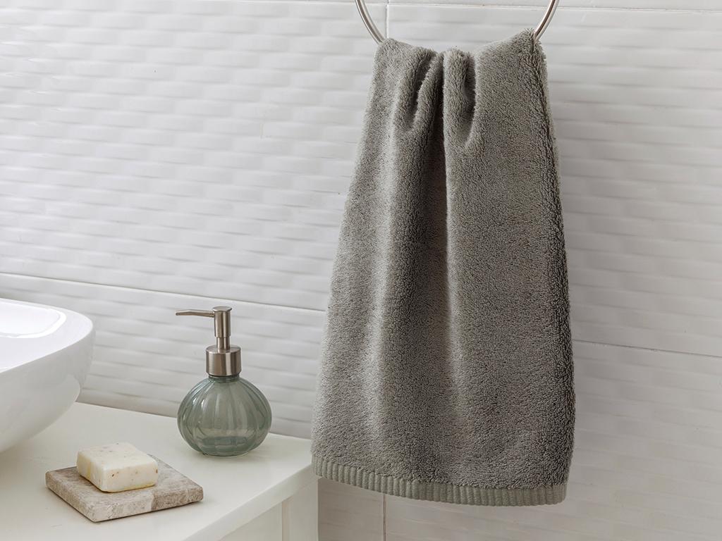 Leafy Face Towel 50x90 cm Dark Gray
