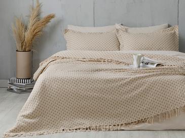 Loop Покривка За Легло К Единични Тъкан 160x240cm Бежово-кремаво