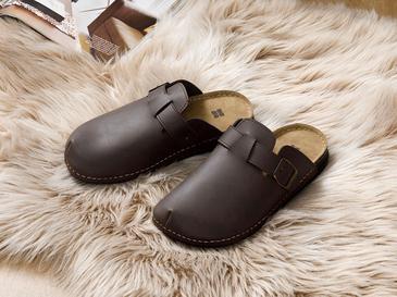 Leather Домашни Чехли 40 Кафяво