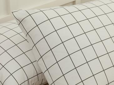 Plain Check Kombin Кълъфка за Възглавница 2 Бр. 50x70 См Бяло
