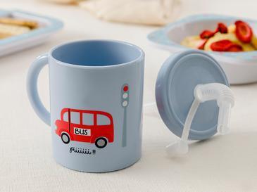 Mini Cars Чаша със Сламка 210 Мл Синьо