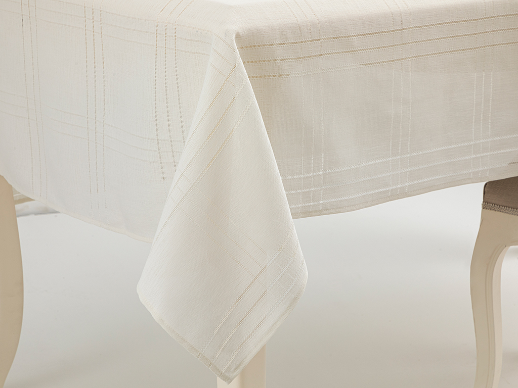 Navy Polyestere Table Cloth 150x200 Cm Krem