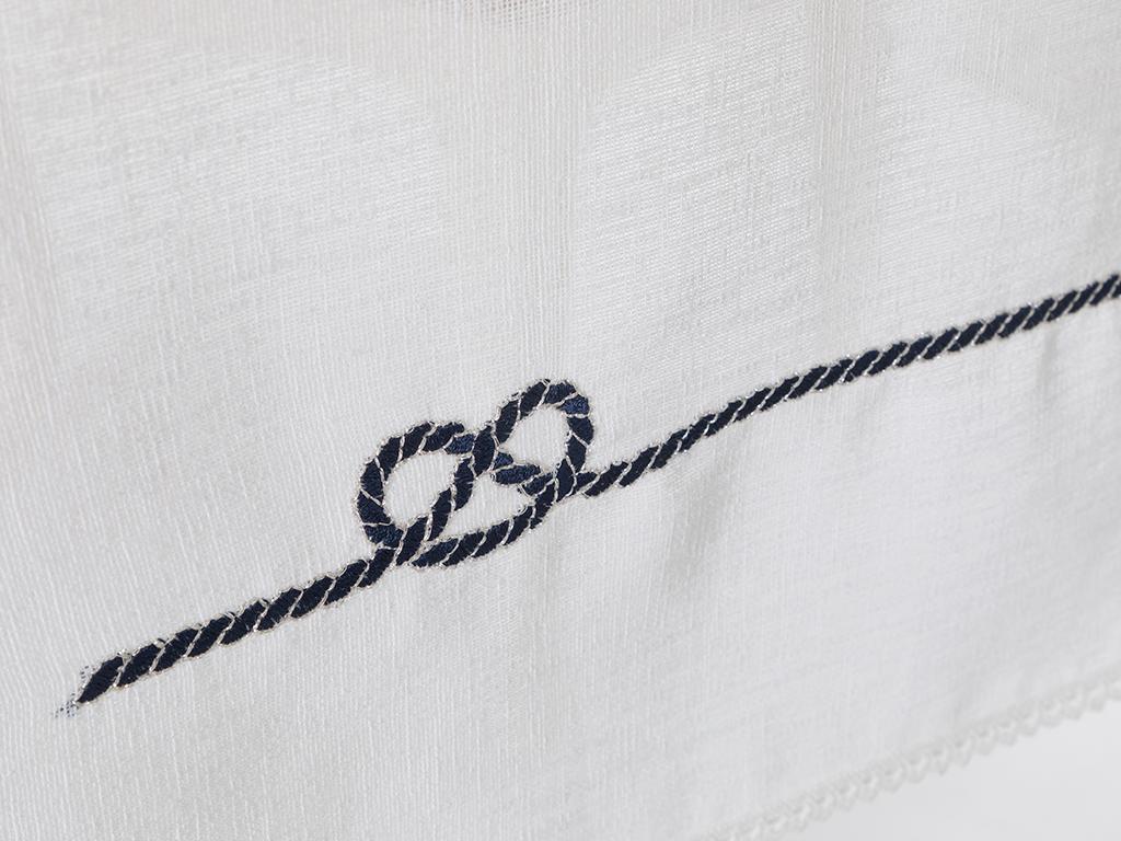 Marin Embroidered Runner 40x150 Cm Lacivert