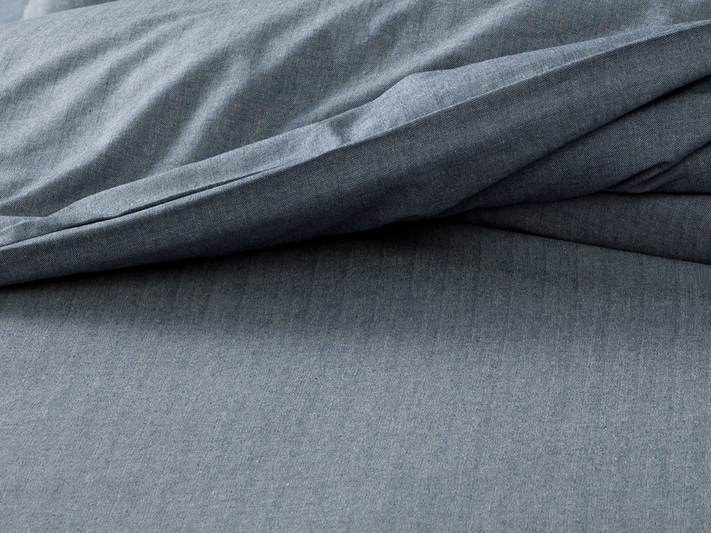 Sharp Twill Suit Super King Duvet Cover Set 260x220 Cm Dark Blue