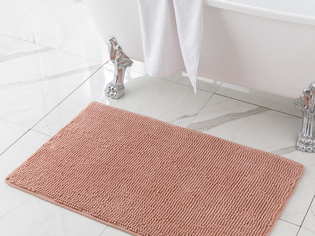 Maggy Bathroom Mat 60x100 Cm Pudra Pembe