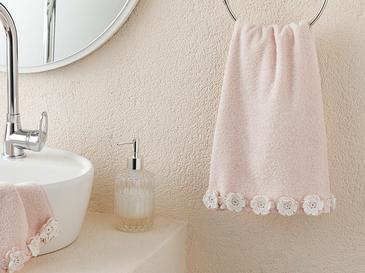 Crochet Flowers Хавлия За Лице 50x76 Cm Пудра Розово-екрю