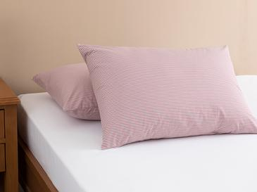 Petit Stripe Кълъфка за Възглавница 2 Бр. 50x70 См Розово-Сиво