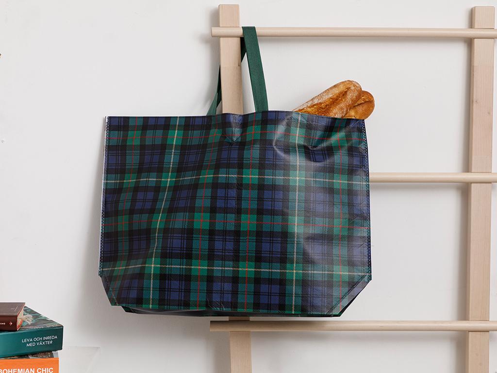 Plaid Shopping Bag 54,5x38 Cm Green