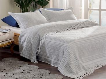 Покривка За Легло К За Двама Жакардово Тъкано 24,5x7,0x19,5 Cm Сиво