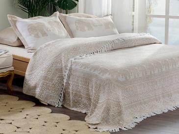 Покривка За Легло К Единични Жакардово Тъкано 160x240cm Кафе