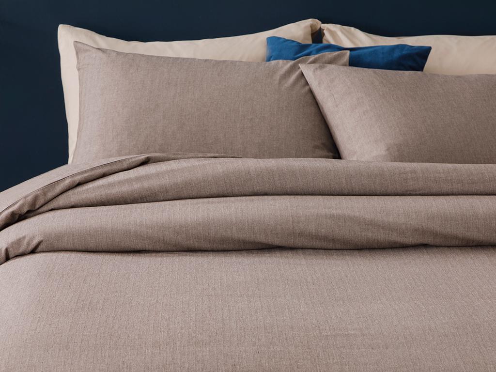 For One Person Duvet Cover Set 160x220 Cm Kahve